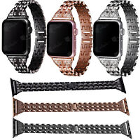 Slim Rhinestone Watch Band Crystal Strap For Apple Watch Bands 38 40 42 44mm
