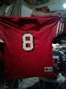 Vintage Champion Youth San Francisco 49ers Steve Young Jersey #8 Size XL 18-20