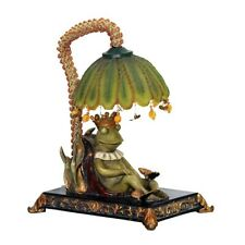 Elk Home Sleeping King Frog Accent Lamp, Filey Green - 91-740