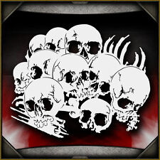 Skull Background 14 -  Airbrush Stencil Template Airsick