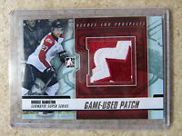 12-13 ITG Heroes Prospects Subway Series Game-Used Patch DOUGIE HAMILTON Sil /10