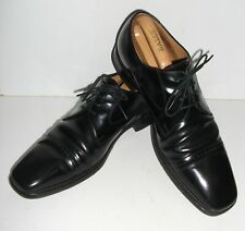 LOAKE 250b LEATHER BROGUES Derby SHOES 11 Black Toe Cap GIBSON Formal Suit