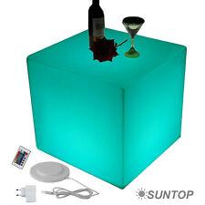 LED Design Cube Sitzwürfel 50cm Leuchtwürfel Tisch Beistelltisch Lounge Möbel