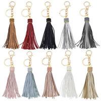 Synthetic Leather Tassel Key Chain Keyring Long Charm Bag Pendant Ornament 1 Pc
