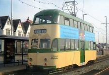 TRAM PHOTO PHOTOGRAPH BLACKPOOL TRANSPORT BALLOON CAR PICTURE 715 NEAR THE CABIN
