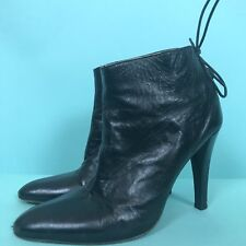 Jill Stuart Leather Booties Size 9 Made In Italy