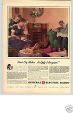1940 PAPER AD ARTICLE General Electric GE Radio Beam-A-Scope Dynapower Speaker
