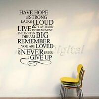 Vinyl Wall Decals Have Hope Be Strong Wall Sticker Art Quote Words Decor Home