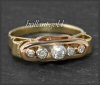 Antiker 0,40ct Diamant Damen Ring, ca 1890 gefertigt aus 585 Gold & Platin