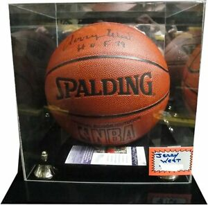 Jerry West Hand Signed Autographed I/O Basketball Los Angeles Lakers w/ Case