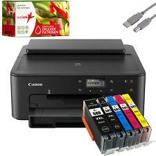 Canon PIXMA TS705 Tintenstrahldrucker Fotodrucker mit 5 Tinten