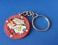 Las Vegas Key Holder with $5 denomination Poker Chip -