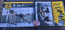 Golds Gym 5-in-1 Body Building System Door Gym DVD An & Core Straps
