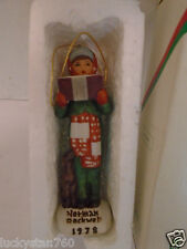 1978 Dave Grossman Norman Rockwell Carroler Christmas Ornament