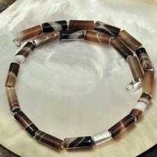 Markenlose Halsketten mit echten mit Achat-Edelsteinen