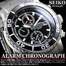 SEIKO MENS CHRONOGRAPH QUARTZ WATCH TACHYMETER 100M SNA225 SNA225P1 BLACK w/ BOX