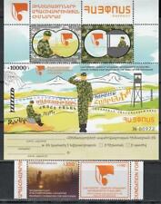 Armenia MNH** 2017 Mi.1024x8 Serviceman + Label + Coupon Ss + set