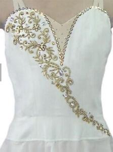 🇺🇸 Professional Talisman Diana Cupid Ballet Dress Costume White Large Child