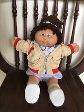 Vintage 1982 Cabbage Patch Kid CPK Doll Brown Yarn Hair Girl NR