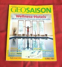 GEO Saison 2006 Nr  2 , Wellness-Hotels Odessa Israel GPS Mozart Wüstenwandern