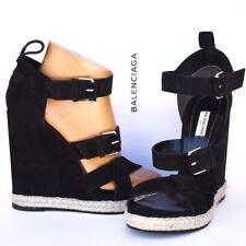BALENCIAGA New sz 41 - 10.5 Authentic Designer Womens Sandals Wedge Heels Shoes
