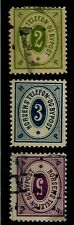 DENMARK HORSENS 1886 - 1889 LOCAL STAMPS, (3) BYPOST TOWN POST