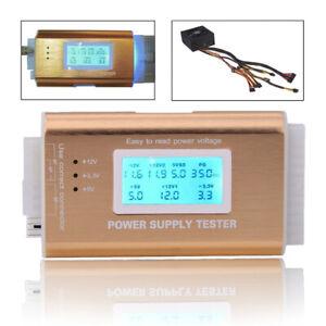 Digital LCD Power Supply Tester Support PC 4 PSU ATX BTX ITX SATA HDD Interface