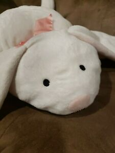 Flatjack North American Bear Floppy Bunny Rabbit Plush White Pink Bow Easter