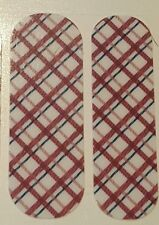 Jamberry 1/2 Sheet, Rare Aug Host Excl, plaid on white