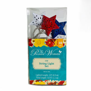 The Pioneer Woman Patriotic Americana 4th of July Star LED String Light Set