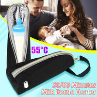 USB Baby Bottle Warmer Thermal Insulated Bag Travel Cup Portable Milk  R