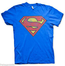 SUPERMAN WASHED SHIELD  T-Shirt  camiseta cotton officially licensed