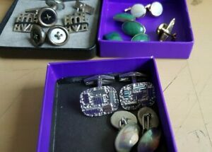 Nice Lot of  Vintage Silver and Gold Cufflinks