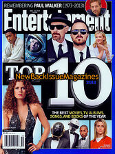 Entertainment Weekly 12/13,Top 10 of 2013,December 2013,NEW
