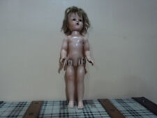 vintage hard plastic doll Made in usa.
