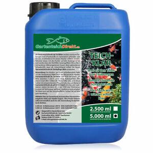 (5,76€/l) Teichklar 5 Liter Teichklärer gegen grünes und trübes Teichwasser