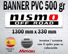 LONA PVC CARTEL BANNER NISSAN NISMO OFF ROAD 4X4 JUKE GTR WORKSHOP GARAGE CAVE