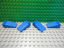 Lego 4 Blue 4x2 slopes 18 degree brick block NEW