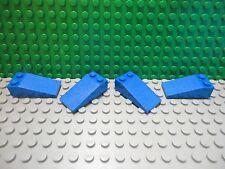 Lego 4 Blue 4x2 slopes 18 degree brick block NEW