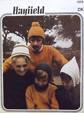 Vintage Knitting Pattern Balaclava Pixie Hats For Men Boys Girls Ladies  H1076