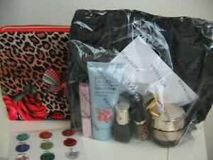 NEW SEALED ESTEE LAUDER  7 PC  CREAM  MAKEUP SAMPLE WITH COSMETIC CASE