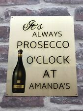 PERSONALISED BAR SIGN NOVELTY XMAS GIFT CHROME GOLD PROSECCO PUB SIGN