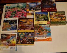Lot Of 10 1000 Piece Jigsaw Puzzles HomeTown Buffalo Big Ben Hasbro Golden