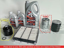 FOR MITSUBISHI L200 2.5 06-12 5W30 FULLY SYNTH OIL AIR FUEL FILTER SERVICE KIT