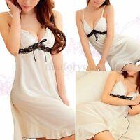 Sexy Women Lace Nightwear Lingerie Underwear Babydoll Dress Lady Sleepwear New