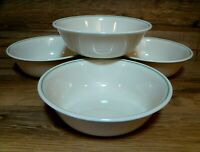 """SET OF 4 - CORNING CORELLE - CALICO ROSE - 6 1/4"""" SOUP CEREAL BOWLS - EXCELLENT"""
