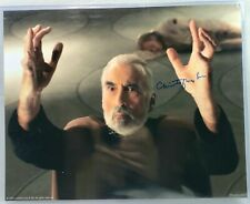 Star wars COUNT DOOKU SIGNED 8x10 Photo Christopher Lee - Authentic Autograph