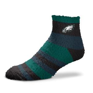 Philadelphia Eagles Football Rainbow Stripe Soft Fuzzy Sleep Socks