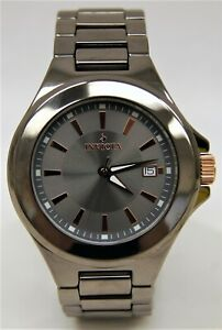Mens INVICTA #12547 Gray Dial Solid Ceramic Case/Band Automatic Watch w/ Box