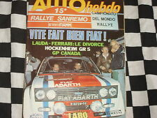 auto hebdo n°84 1977 / RALLYE SAN REMO / HOCKENHEIM GR.5 / MINI TROPHEE 120